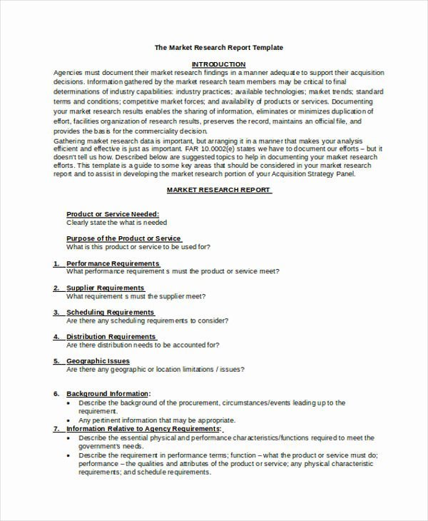 Market Research Report Template Beautiful 10 Research Report Templates Word Pdf Google Docs