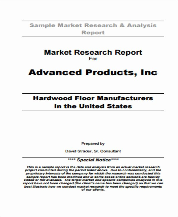 Market Research Report Template Fresh 9 Research Report formats Free Sample Example format