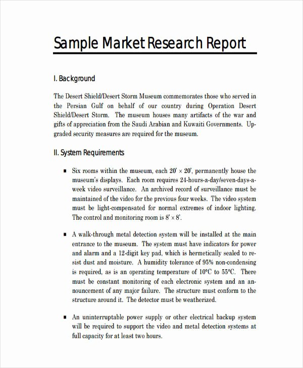 Market Research Report Template Inspirational 13 Research Report Examples Pdf Word