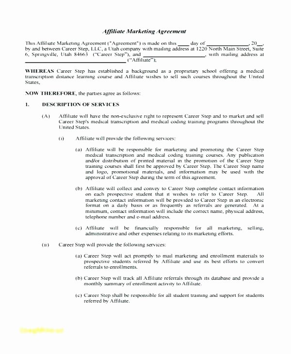 Marketing Agency Agreement Template Inspirational Student Agreement Template – Flybymedia