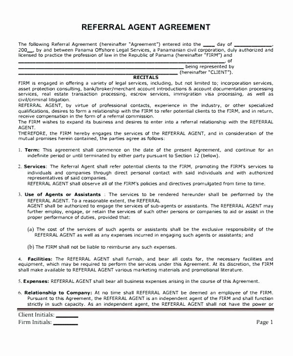 Marketing Agency Agreement Template New Marketing Agency Contract Template Marketing Agent