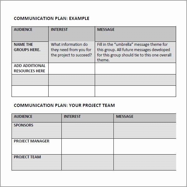 Marketing Communications Plan Template Beautiful 16 Samples Of Munication Plan Templates Pdf Word