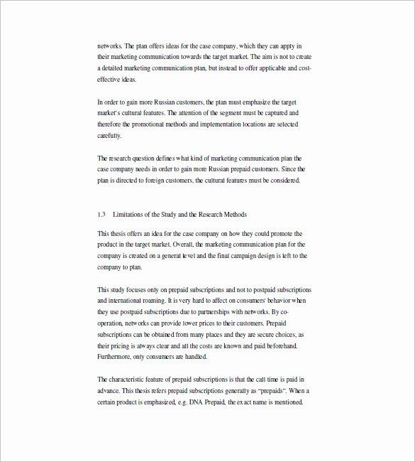 sample marketing munication plan