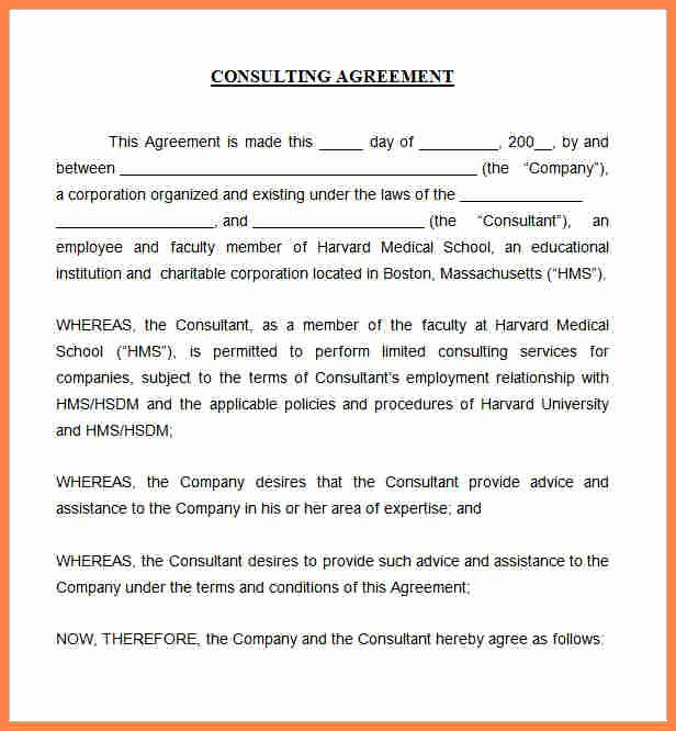 Marketing Consultant Contract Template Inspirational 5 Marketing Consulting Agreement Template