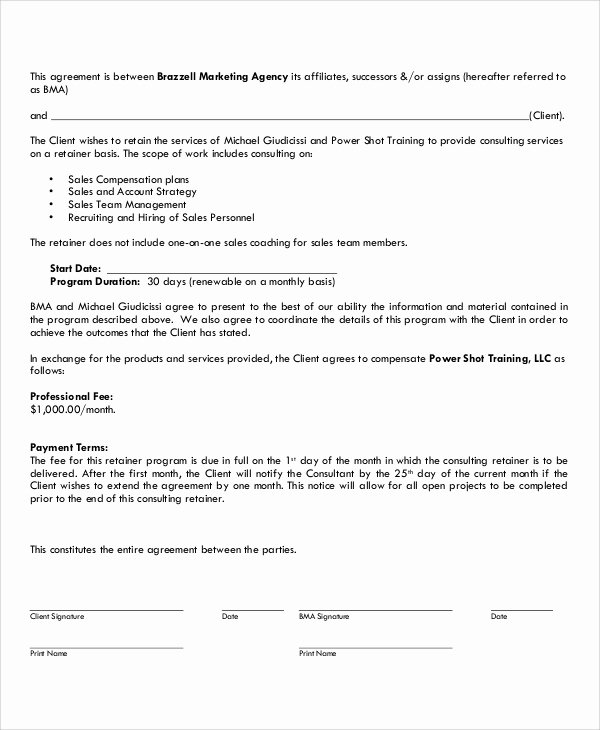 Marketing Consultant Contract Template New 13 Marketing Consulting Agreement Samples