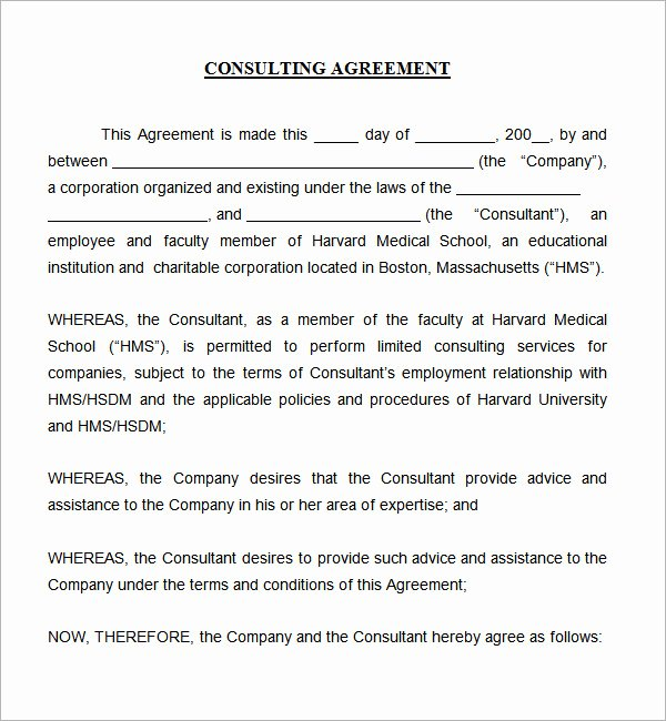 Marketing Consultant Contract Template New Consulting Agreement 5 Free Pdf Doc Download