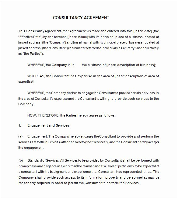 Marketing Consultant Contract Template Unique 12 Consultant Contract Templates Free Word Pdf