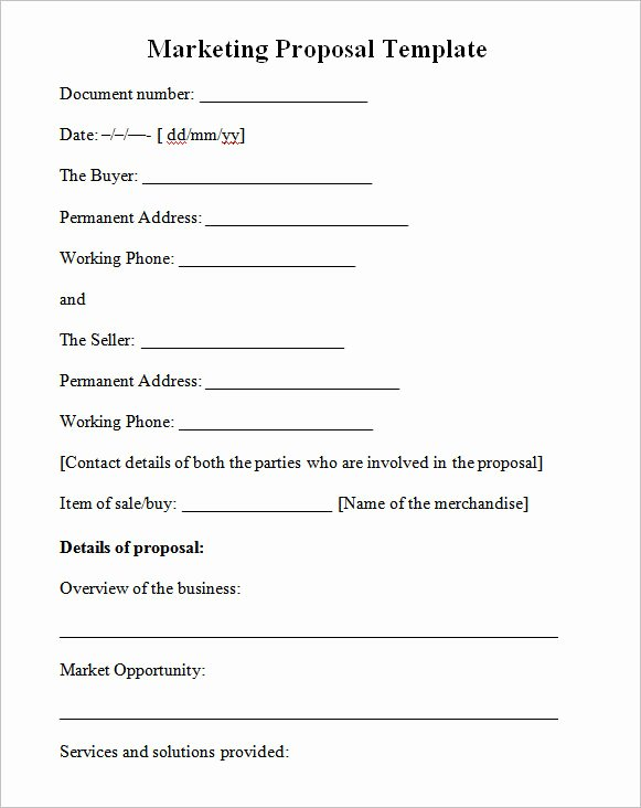 Marketing Consulting Proposal Template Awesome 19 Marketing Proposal Templates
