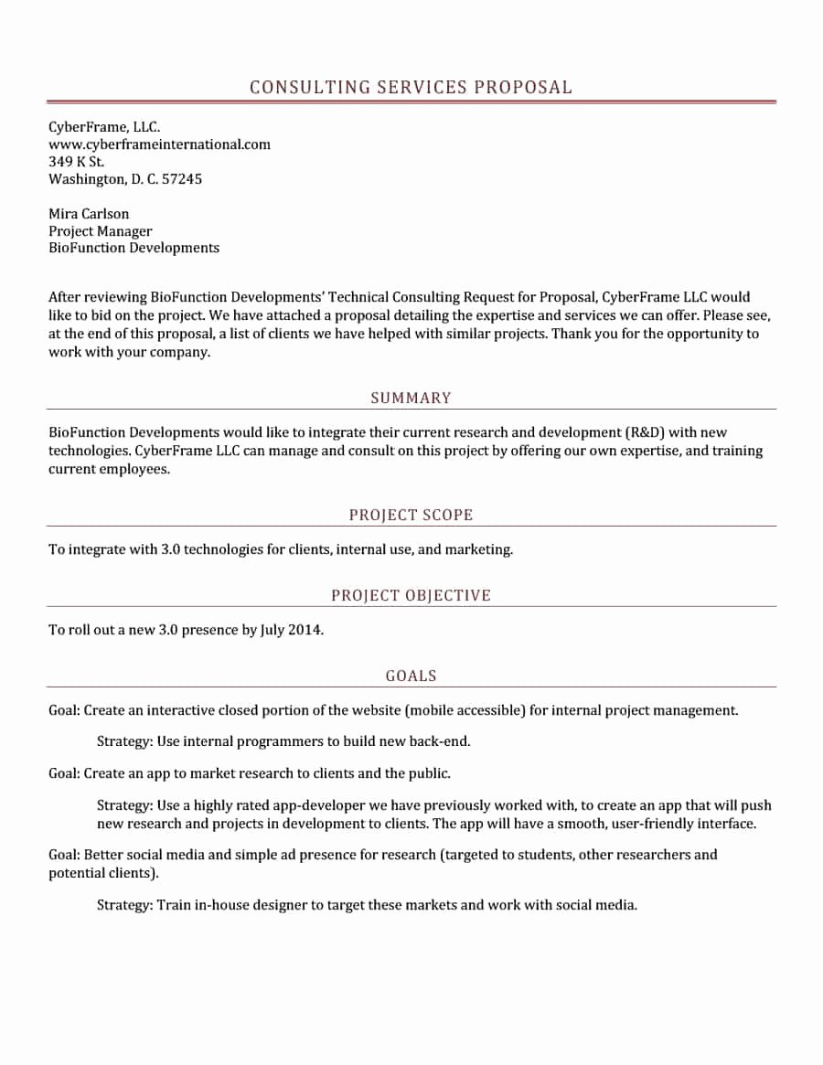 Marketing Consulting Proposal Template Inspirational 39 Best Consulting Proposal Templates [free] Template Lab