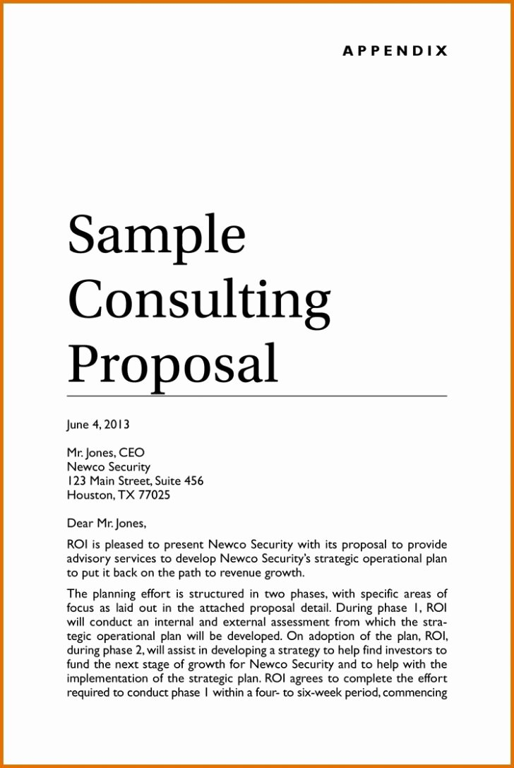 Marketing Consulting Proposal Template Luxury Consultancy Proposal Example Resume Samples Consulting