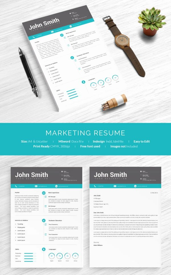 Marketing One Sheet Template Awesome 16 E Page Resume Templates
