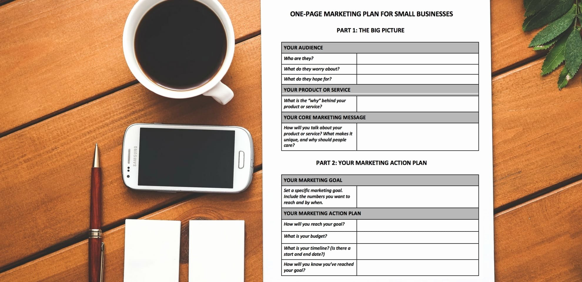 Marketing One Sheet Template Unique [free Download] A E Page Marketing Plan Template You Ll