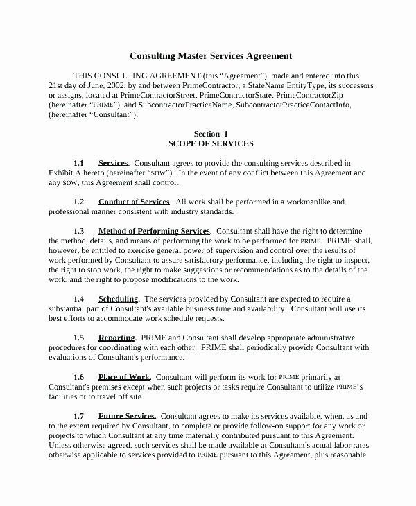 Marketing Service Agreement Template Beautiful Marketing Consulting Agreement Template Free Service