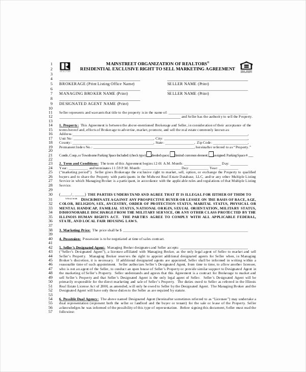 Marketing Service Agreement Template Best Of 20 Marketing Agreement Template – Free Sample Example