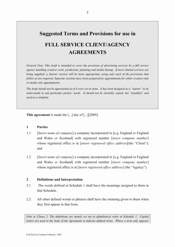 Marketing Service Agreement Template Inspirational 12 Advertising and Marketing Agreement Template – Pdf