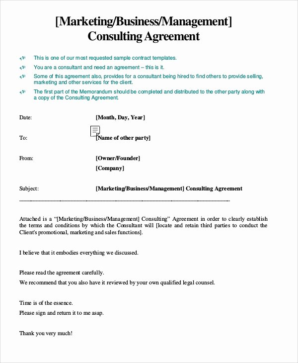 Marketing Service Agreement Template New 13 Marketing Consulting Agreement Samples