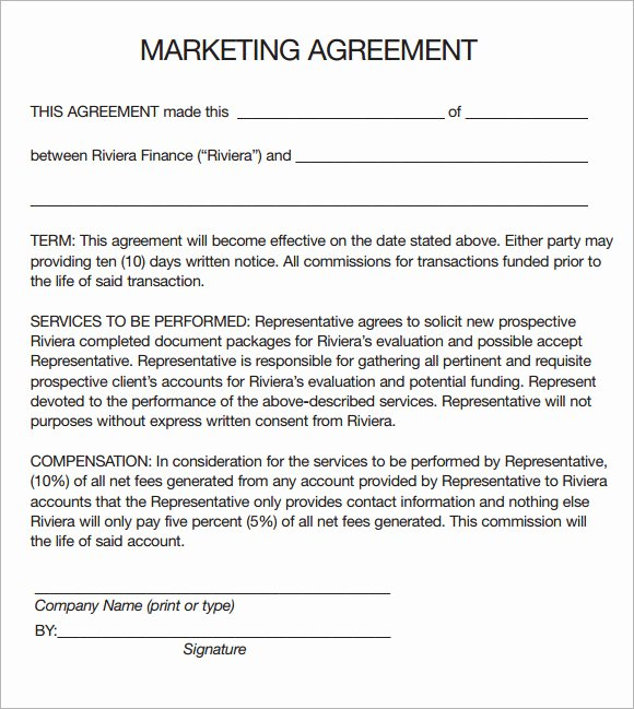 Marketing Services Agreement Template Fresh Marketing Agreement Template 29 Download Free Documents