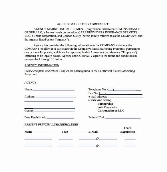 Marketing Services Agreement Template Inspirational Marketing Agreement Template 29 Download Free Documents