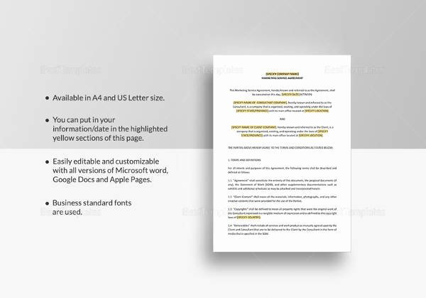 Marketing Services Agreement Template Lovely Marketing Agreement Template 29 Download Free Documents