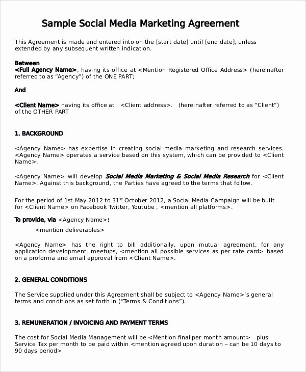 Marketing Services Agreement Template Luxury 13 Marketing Consulting Agreement Samples