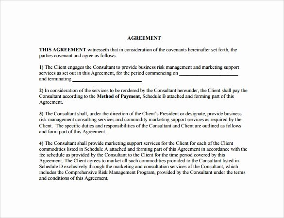 Marketing Services Agreement Template Unique 8 Sample Marketing Agreements