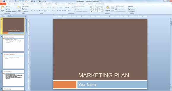 Marketing Strategy Template Ppt Awesome Free Marketing Plan Template for Powerpoint Presentations