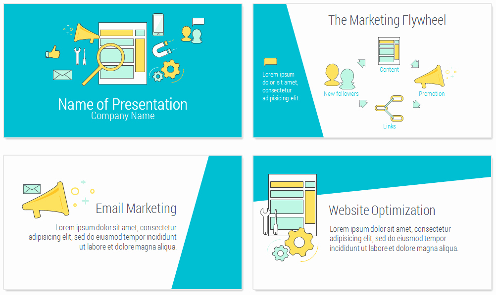 Marketing Strategy Template Ppt Best Of Line Marketing Powerpoint Template Presentationdeck