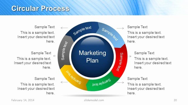 Marketing Strategy Template Ppt Unique Blue Marketing Plan Template for Powerpoint
