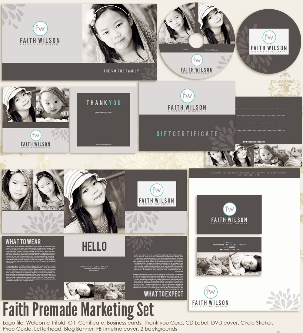 Marketing Template for Photographers Beautiful Faith Premade Graphy Marketing Set Templates [ms