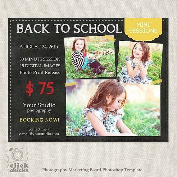 Marketing Template for Photographers Best Of Back to School Mini Session Template Graphy