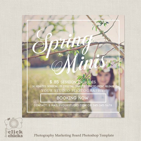 Marketing Template for Photographers Inspirational Spring Easter Mini Session Marketing Template for