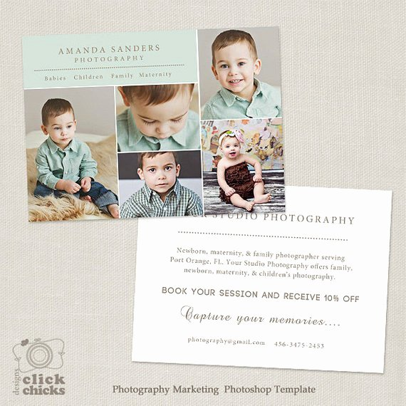 Marketing Template for Photographers Lovely Promo Card Graphy Marketing Template Flyer Postcard