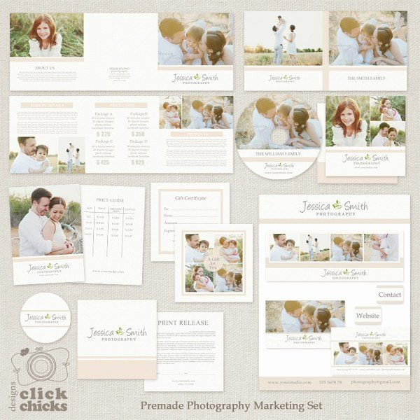 Marketing Template for Photographers Luxury Bundle Premade Graphy Marketing Templates Set and