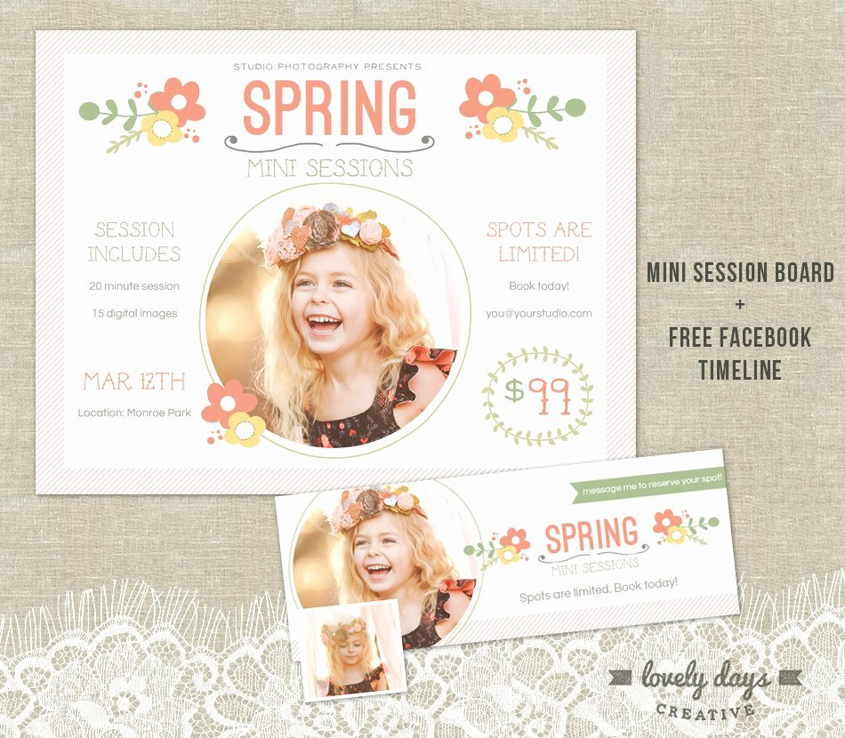 Marketing Template for Photographers Luxury Spring Mini Session Template Marketing Board Flyer Plus Free
