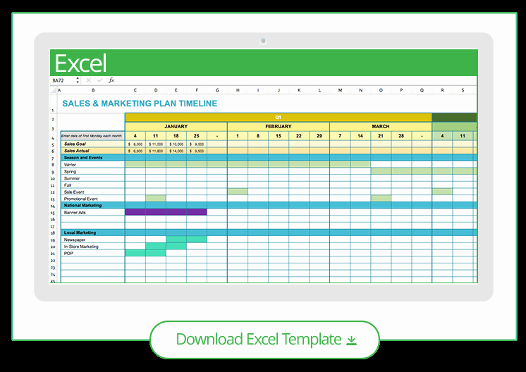 Marketing Timeline Template Excel Awesome Free Marketing Timeline Tips and Templates Smartsheet