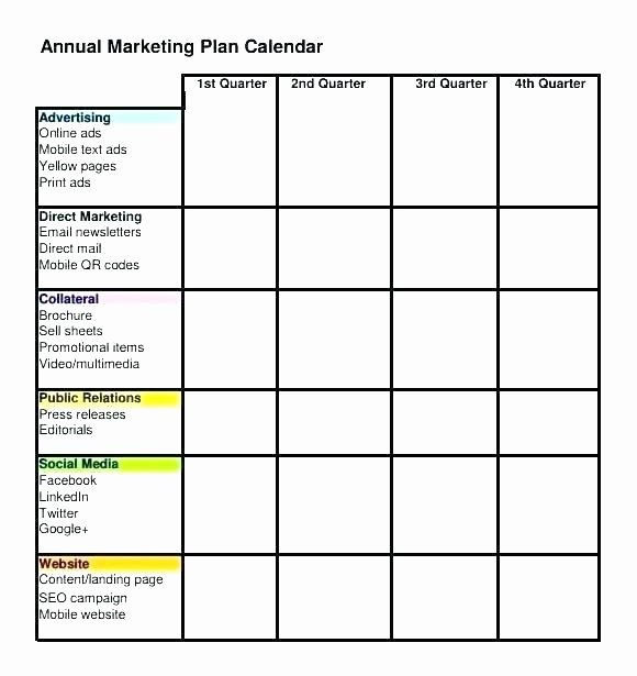 Marketing Timeline Template Excel Lovely Annual Marketing Plan Template Free Excel Timeline