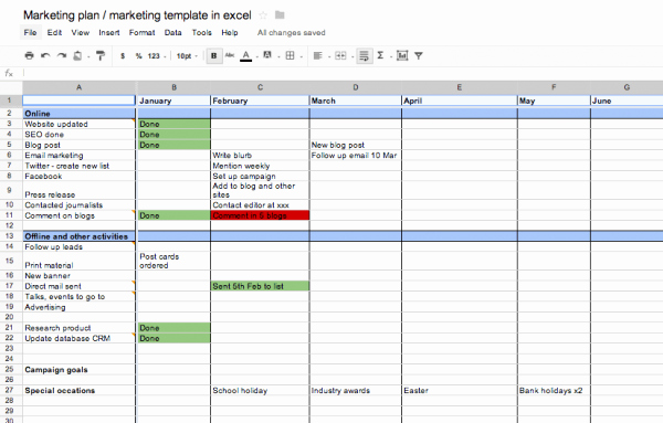 Marketing Timeline Template Excel New Marketing Plan Template Excel