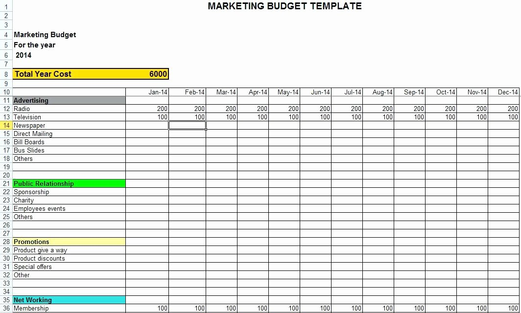 project timeline template excel in for marketing