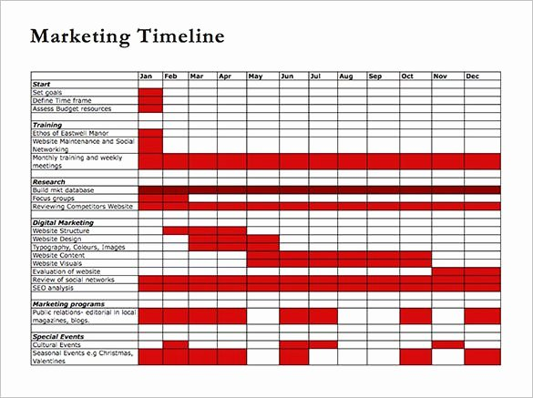 Marketing Timeline Template Excel Unique Timeline Template 67 Free Word Excel Pdf Ppt Psd