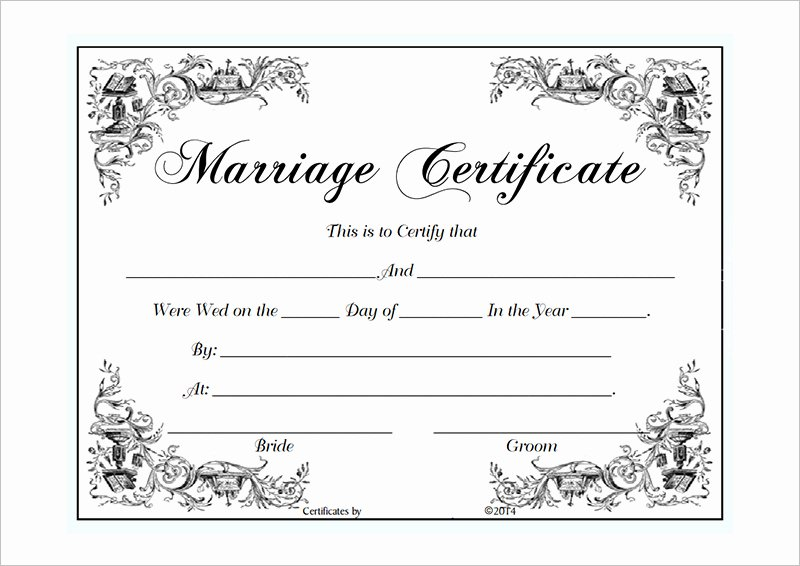 Marriage Certificate Template Word Best Of Blank Certificate Template Microsoft Word Templates