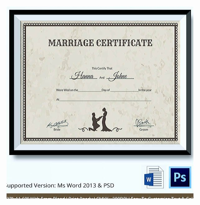 Marriage Certificate Template Word Best Of Designing Using Marriage Certificate Template for Your Own
