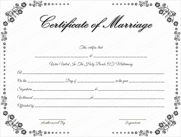Marriage Certificate Template Word Best Of Wedding Certificate Template 22 Free Psd Ai Vector