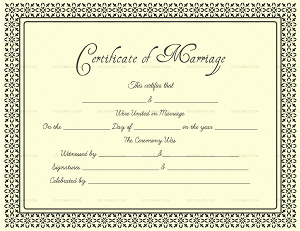 Marriage Certificate Template Word Fresh Editable Marriage Certificates for Word & Pdf format