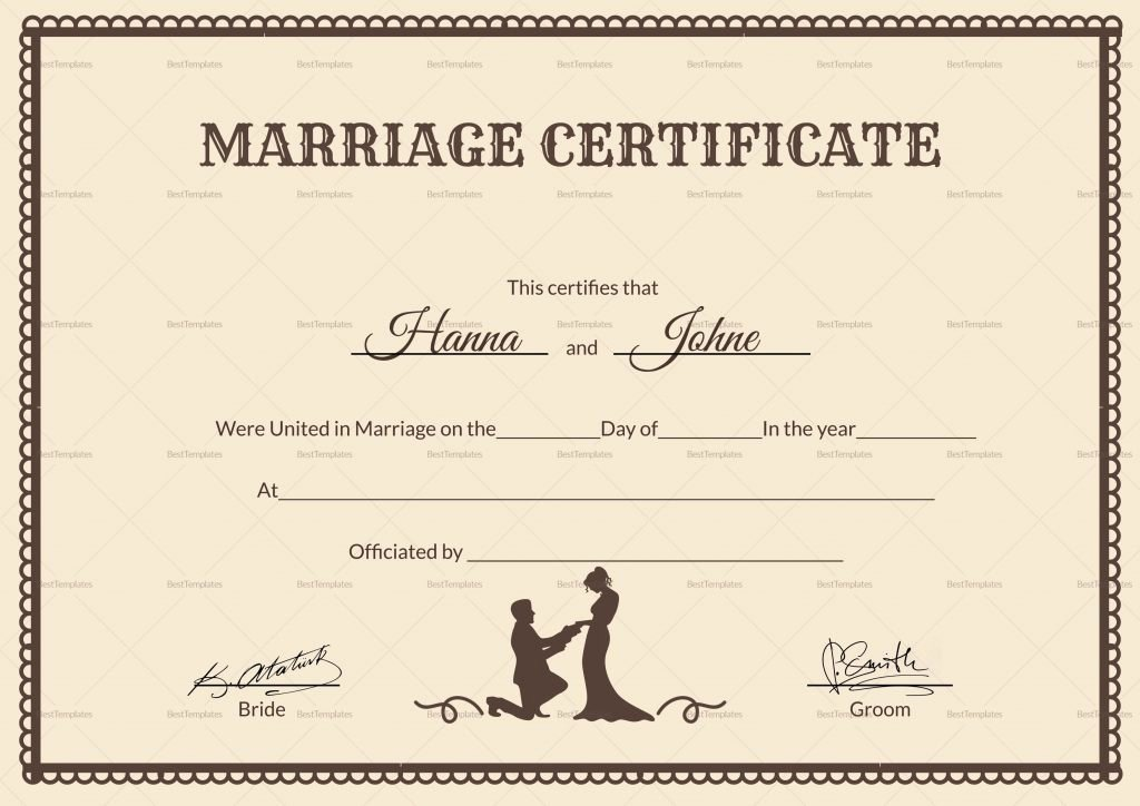Marriage Certificate Template Word Fresh Resume Responsibilities Marriage Certificate Sample Nepal