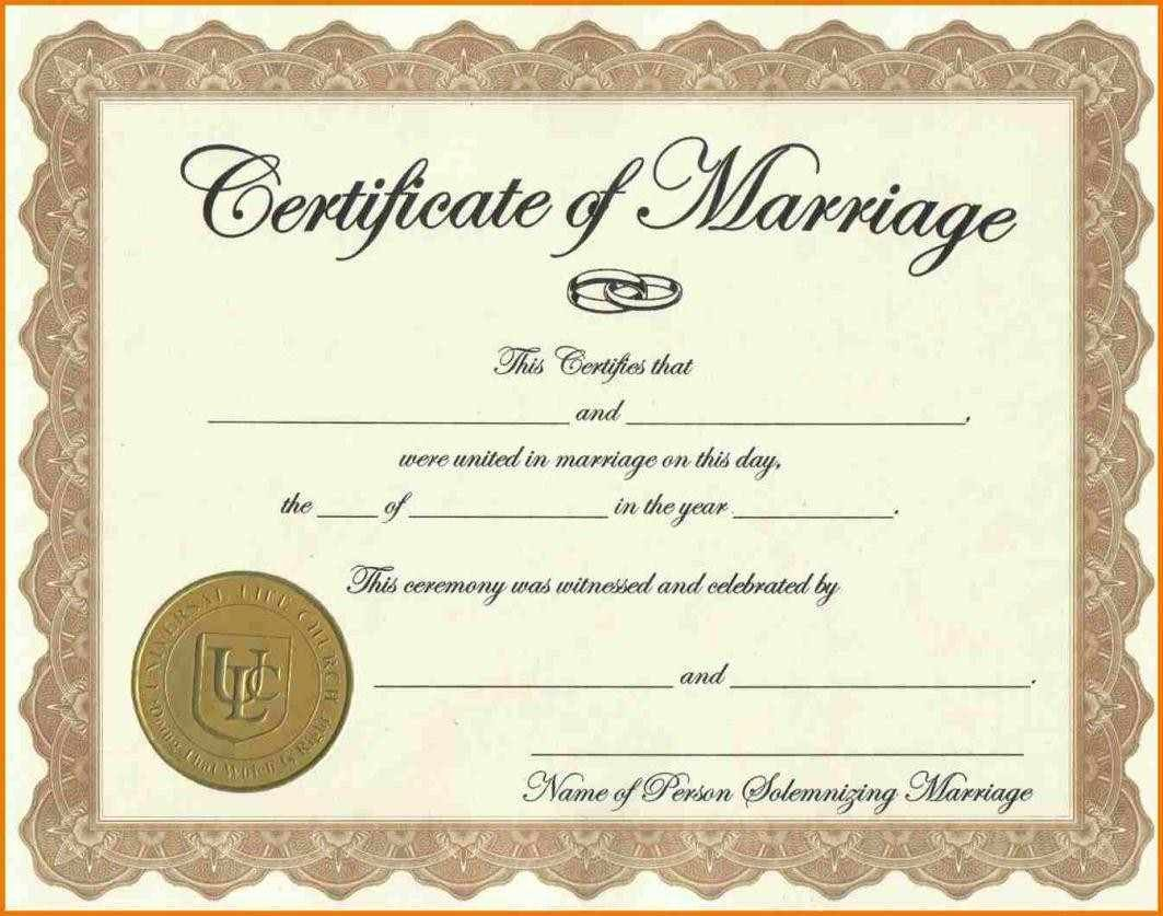 Marriage Certificate Template Word Lovely Certificate Templates Sample Marriage Certificates