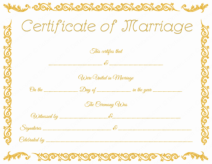 Marriage Certificate Template Word Luxury Printable Marriage Certificate Template Dotxes
