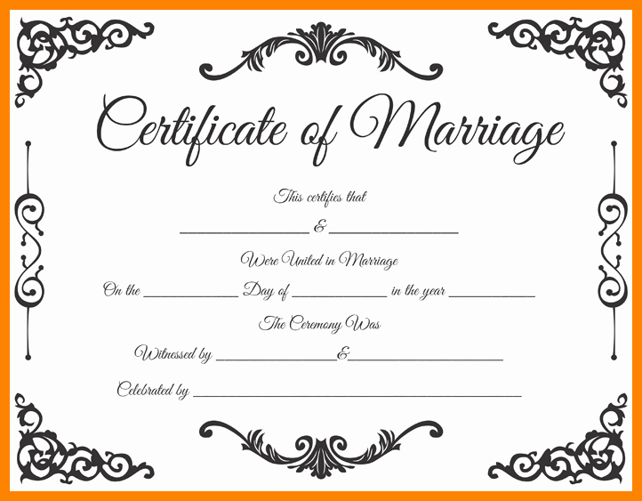 Marriage Certificate Template Word New 9 Marriage Certificate Template Microsoft Word
