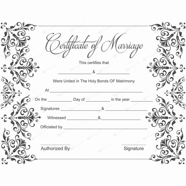 Marriage Certificate Template Word New Save Word Templates