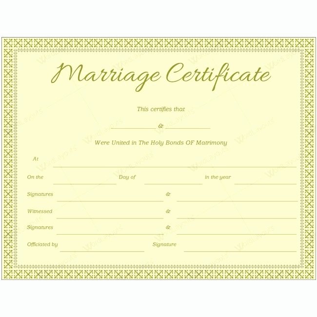 Marriage Certificate Template Word Unique 68 Best Marriage Certificate Templates Images On Pinterest
