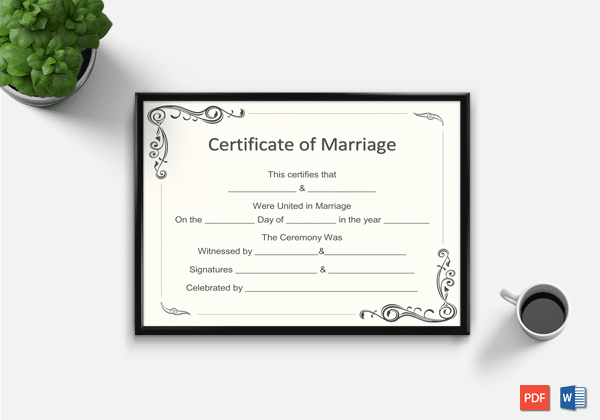 Marriage Certificate Template Word Unique Marriage Certificate Template Word Pdf – Doc formats